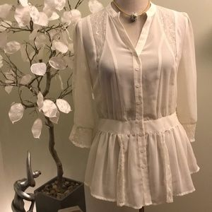 MM COUTURE LACED BLOUSE